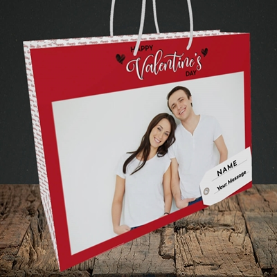 Picture of 1.A Valentine's Large Photo, Valentine's Design, Medium Landscape Gift Bag