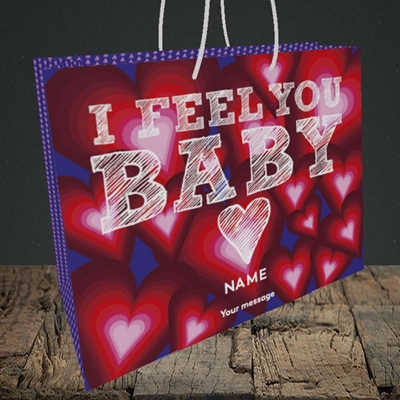 Picture of I Feel You Baby(Without Photo), Valentine's Design, Medium Landscape Gift Bag