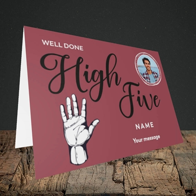 Picture of Well Done High Five, Celebration Design, Landscape Greetings Card