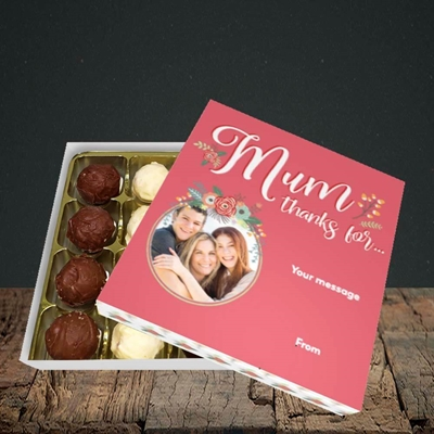 Picture of Mum Thanks For..., Mother's Day Design, Choc 25