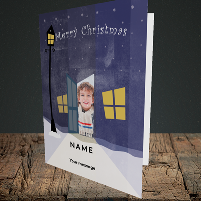 Picture of Lamp Post, Christmas Design, Portrait Greetings Card