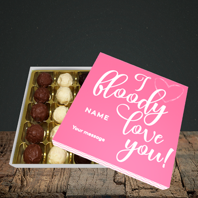 Picture of I Bloody Love You(Without Photo), Valentine's Design, Choc 25