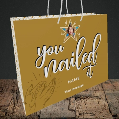 Picture of Nailed It, Graduation Design, Medium Landscape Gift Bag