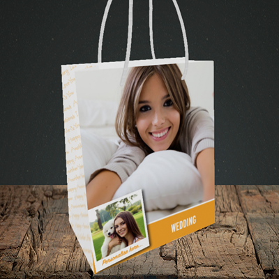 Picture of Photo, Wedding Design, Small Portrait Gift Bag