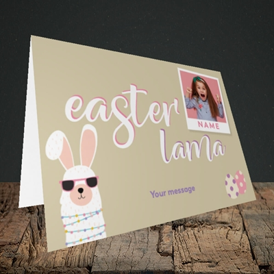 Picture of Easter Lama, Easter Design, Landscape Greetings Card