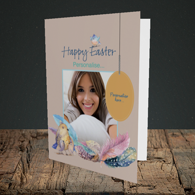Picture of Birds, Easter Design, Portrait Greetings Card