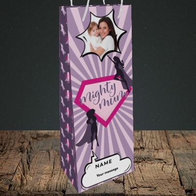Picture of Mighty Mum, Mother's Day Design, Bottle Bag