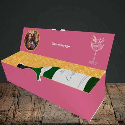 Picture of Gin To My Tonic, Mother's Day Design, Lay-down Bottle Box