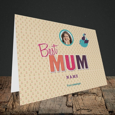 Picture of Best Mum, Landscape Greetings Card