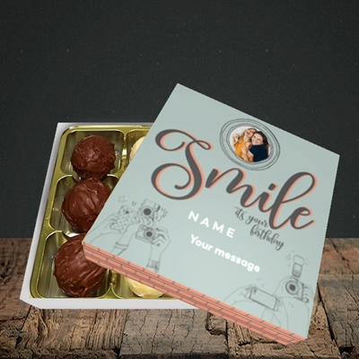 Picture of Camera Smile, Birthday Design, Choc 9