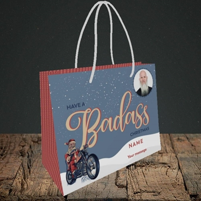 Picture of Badass, Christmas Design, Small Landscape Gift Bag