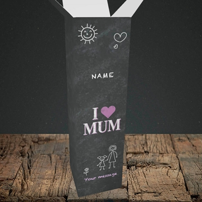 Picture of I Love Mum (Chalk Board),(Without Photo), Upright Bottle Box