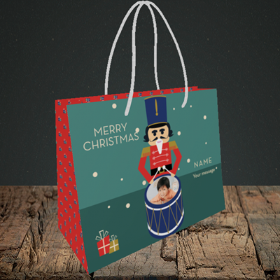 Picture of Drummer Boy, Christmas Design, Small Landscape Gift Bag