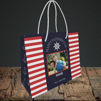 Picture of Nautical, Father's Day Design, Small Landscape Gift Bag