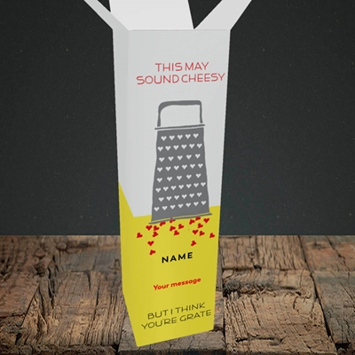 Picture of Cheesy Love(Without Photo), Valentine's Design, Upright Bottle Box