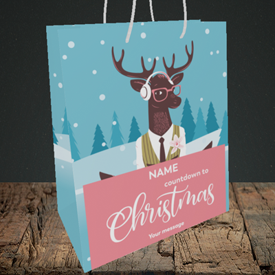 Picture of Countdown(Without Photo), Christmas Design, Medium Portrait Gift Bag
