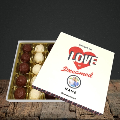 Picture of Let's Live The Love, Valentine Design, Choc 25