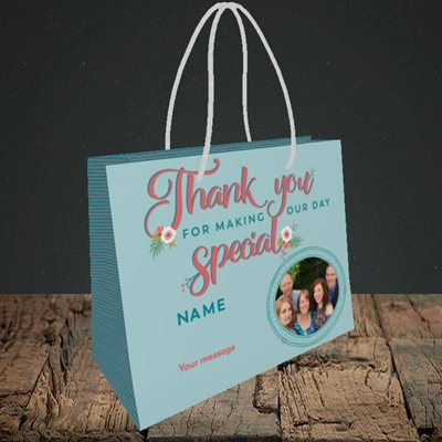 Picture of Thank You, Wedding Design, Small Landscape Gift Bag