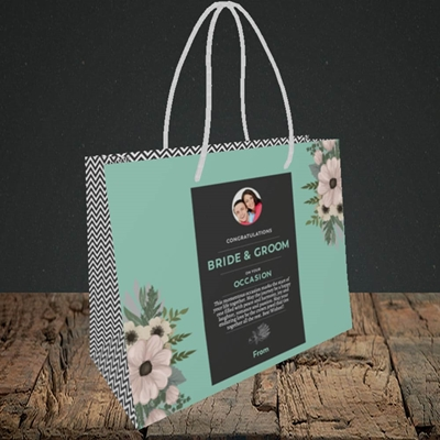 Picture of Flowers Green B&G, Wedding Design, Small Landscape Gift Bag