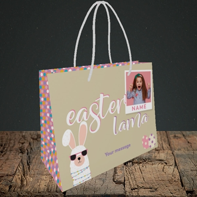 Picture of Easter Lama, Easter Design, Small Landscape Gift Bag