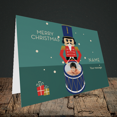 Picture of Drummer Boy, Christmas Design, Landscape Greetings Card