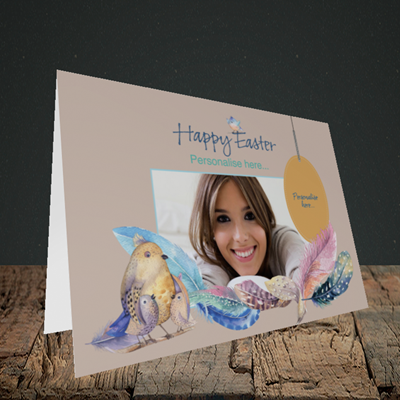 Picture of Birds, Easter Design, Landscape Greetings Card