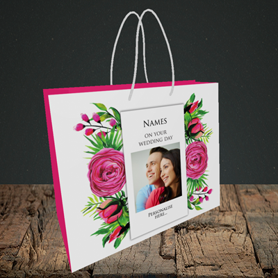 Picture of Flowers, Wedding Design, Small Landscape Gift Bag