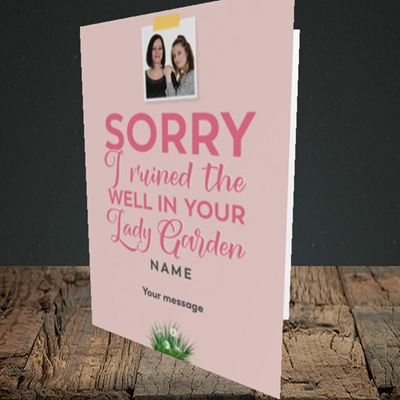 Picture of Lady Garden, Mother's Day Design, Portrait Greetings Card