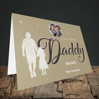 Picture of Daddy & Daughter, Birthday Design, Landscape Greetings Card