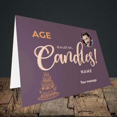 Picture of A Lot Of Candles, Birthday Design, Landscape Greetings Card