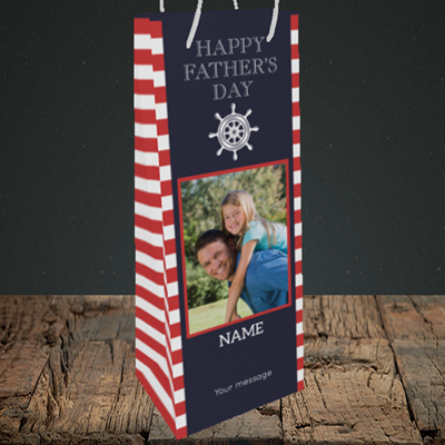 Picture of Nautical, Father's Day Design, Bottle Bag