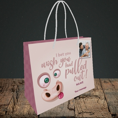 Picture of Pulled Out!, Father's Day Design, Small Landscape Gift Bag