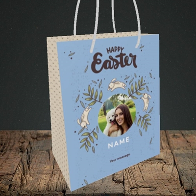 Picture of Running Bunnies, Easter Design, Small Portrait Gift Bag