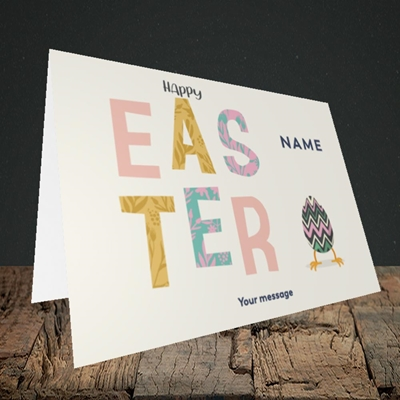 Picture of Happy Walking Egg(Without Photo), Easter Design, Landscape Greetings Card