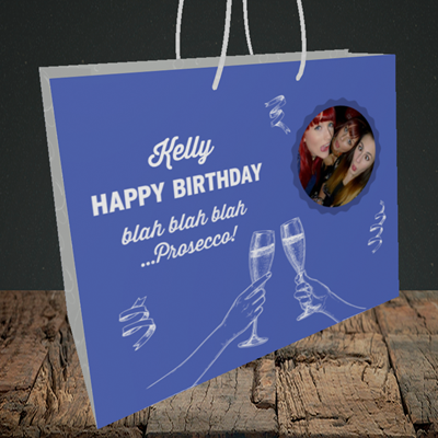 Picture of Blah, Birthday Design, Medium Landscape Gift Bag