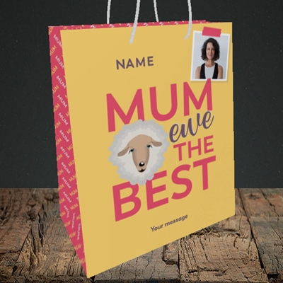 Picture of Ewe The Best, Mother's Day Design, Medium Portrait Gift Bag