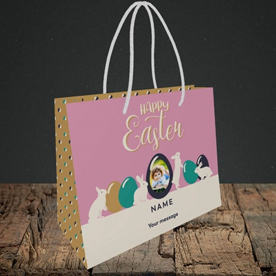 Picture of Four Bunnies, Easter Design, Small Landscape Gift Bag