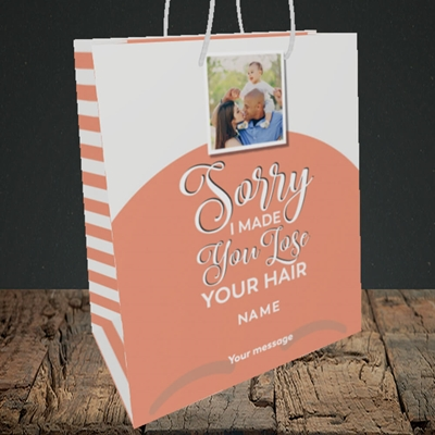 Picture of Made You Lose Hair, Father's Day Design, Medium Portrait Gift Bag