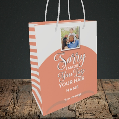 Picture of Made You Lose Hair, Father's Day Design, Small Portrait Gift Bag
