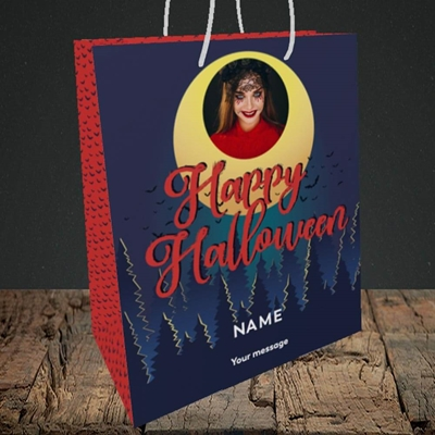 Picture of Spooky Forest, Halloween Design, Medium Portrait Gift Bag