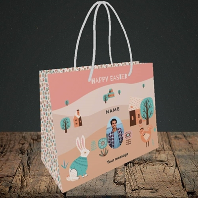 Picture of Easter Farm,  Easter Design, Small Landscape Gift Bag