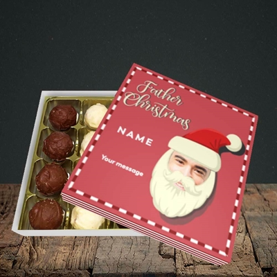 Picture of Father Christmas Mask, Christmas Design, Choc 16