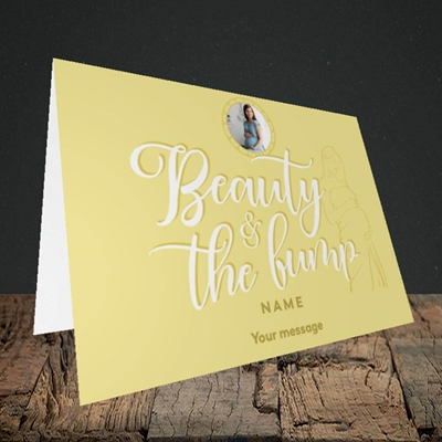 Picture of Beauty & The Bump, Pregnancy Design, Landscape Greetings Card