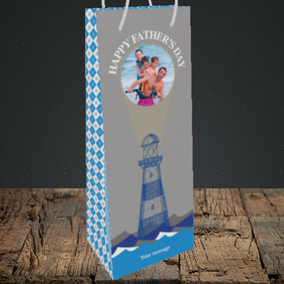 Picture of Lighthouse, Father's Day Design, Bottle Bag