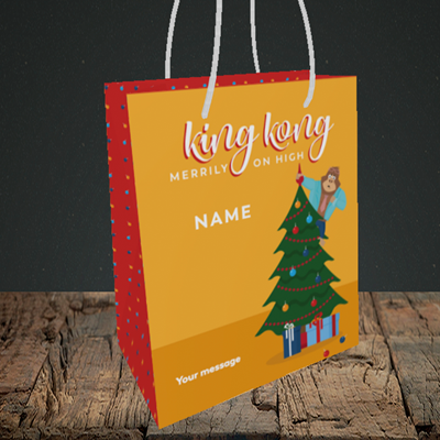 Picture of King Kong, (Without Photo) Christmas Design, Small Portrait Gift Bag