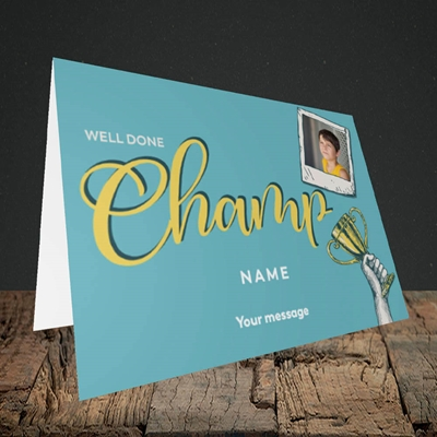 Picture of Champ, Celebration Design, Landscape Greetings Card