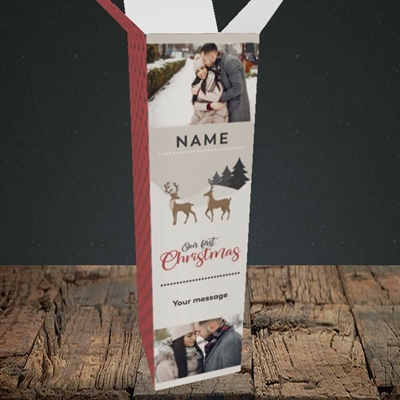 Picture of Our First Christmas, Christmas Design, Upright Bottle Box