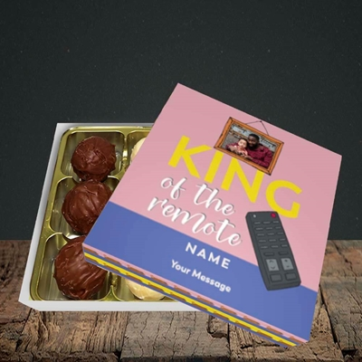 Picture of King Of The Remote, Father's Day Design, Choc 9