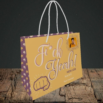 Picture of F*ck Yeah!, New Job Design, Small Landscape Gift Bag