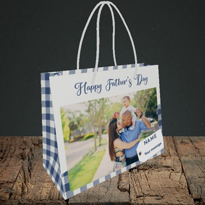 Picture of 1. Large Photo, Father's Day Design, Small Landscape Gift Bag